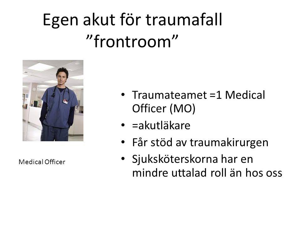 Egen akut för traumafall frontroom