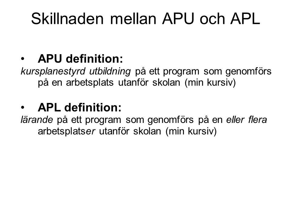 Skillnaden mellan APU och APL