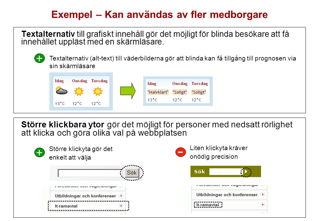 Exempel – Kan användas av fler medborgare