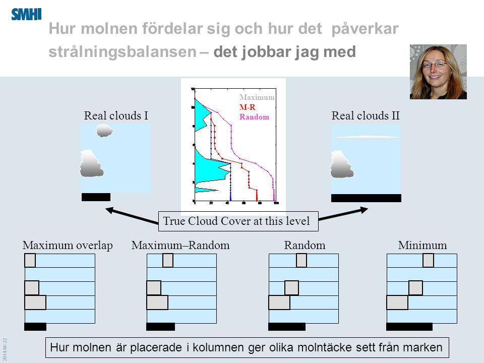 Hur molnen fördelar sig och hur det påverkar strålningsbalansen – det jobbar jag med