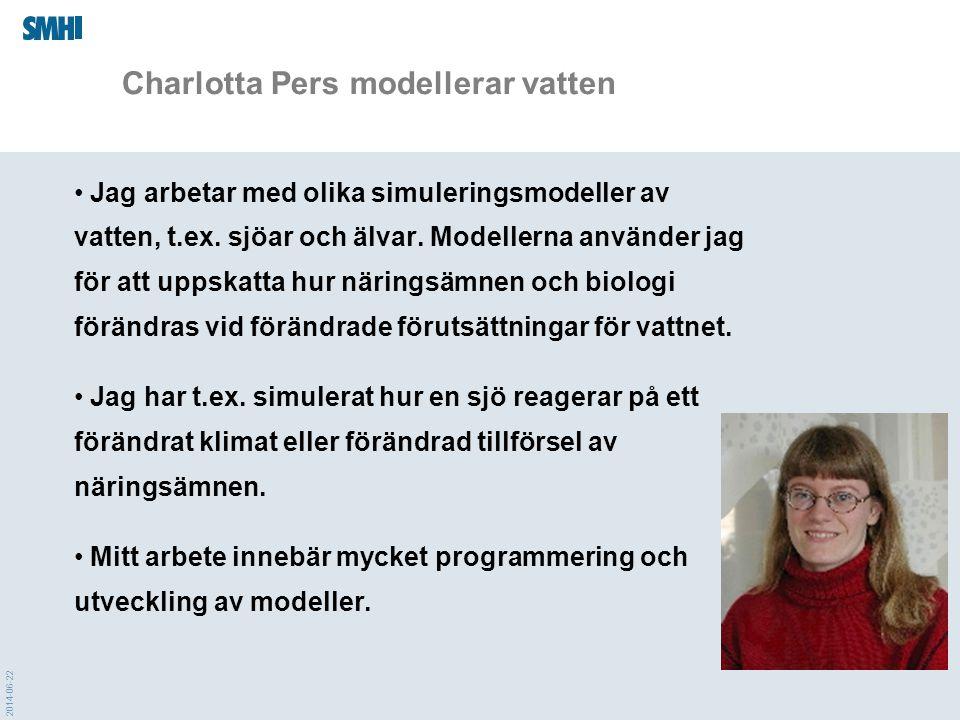 Charlotta Pers modellerar vatten