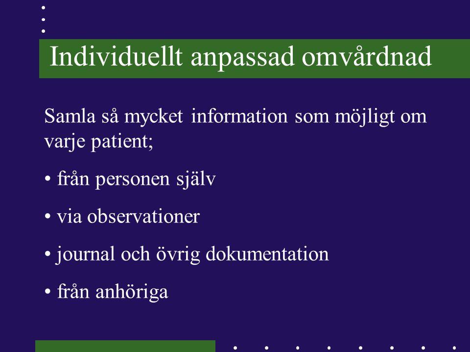 Individuellt anpassad omvårdnad