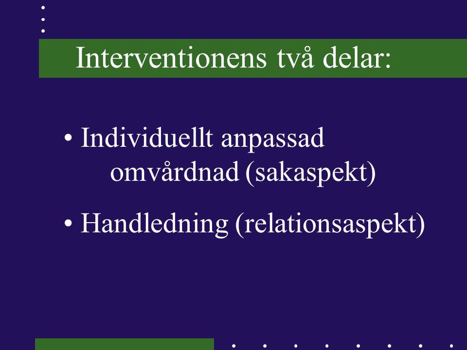 Interventionens två delar: