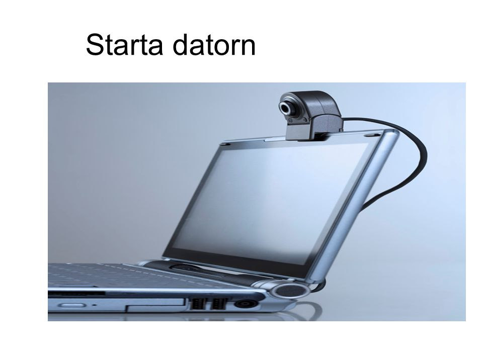 Starta datorn