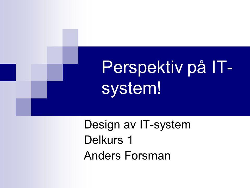 Perspektiv på IT-system!
