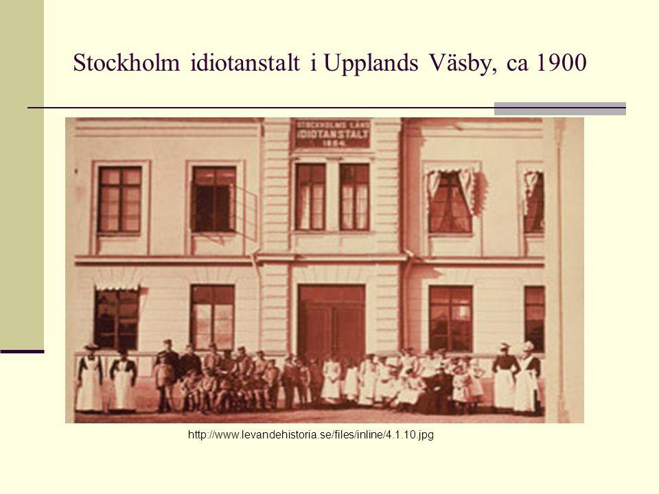 Stockholm idiotanstalt i Upplands Väsby, ca 1900