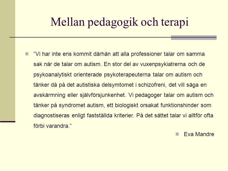 Mellan pedagogik och terapi
