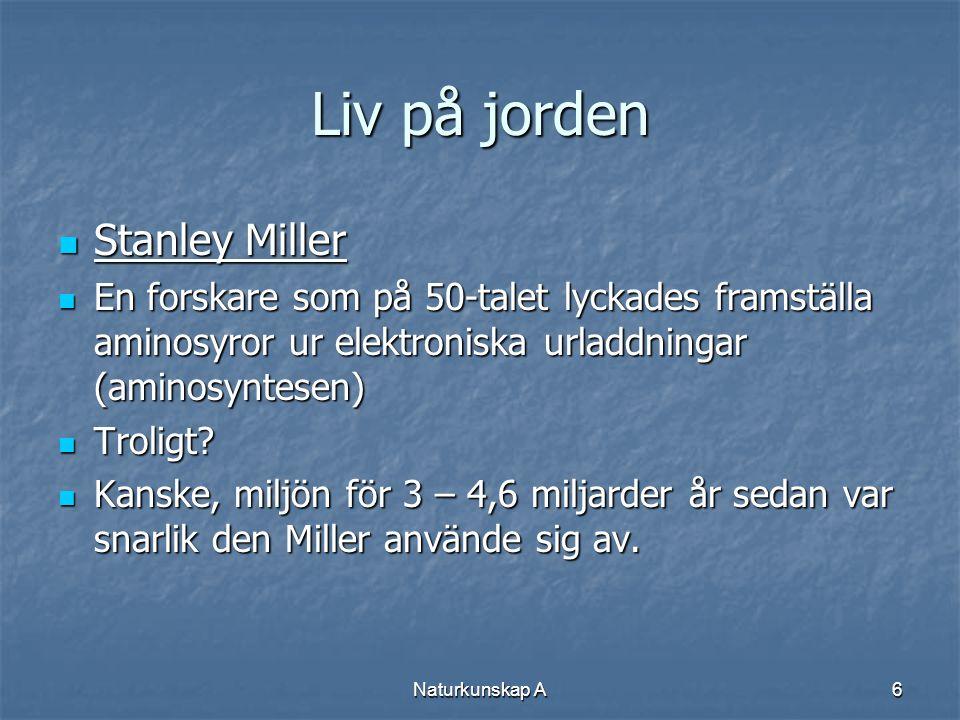 Liv på jorden Stanley Miller