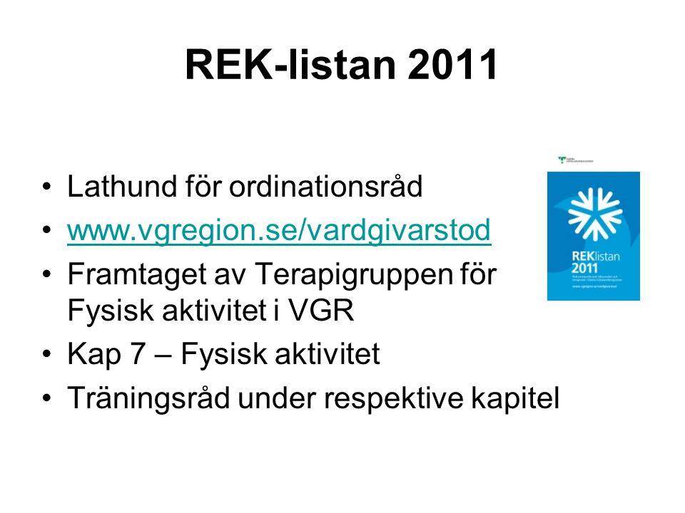 REK-listan 2011 Lathund för ordinationsråd