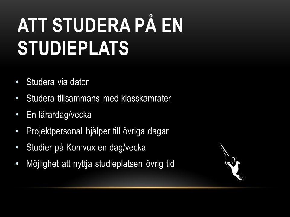 ATT STUDERA PÅ EN STUDIEPLATS