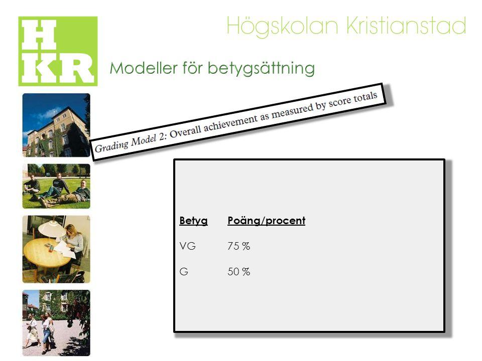 Modeller för betygsättning