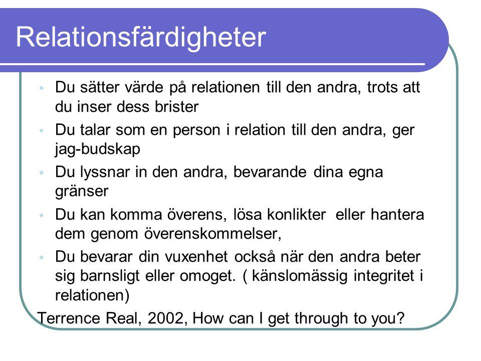 Relationsfärdigheter