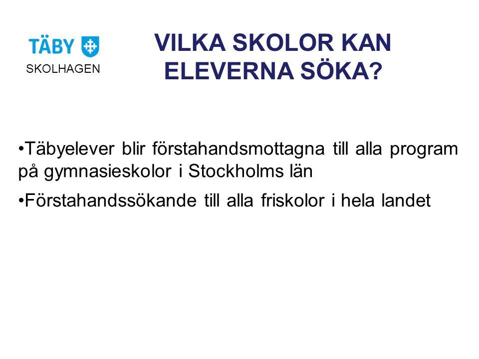VILKA SKOLOR KAN ELEVERNA SÖKA
