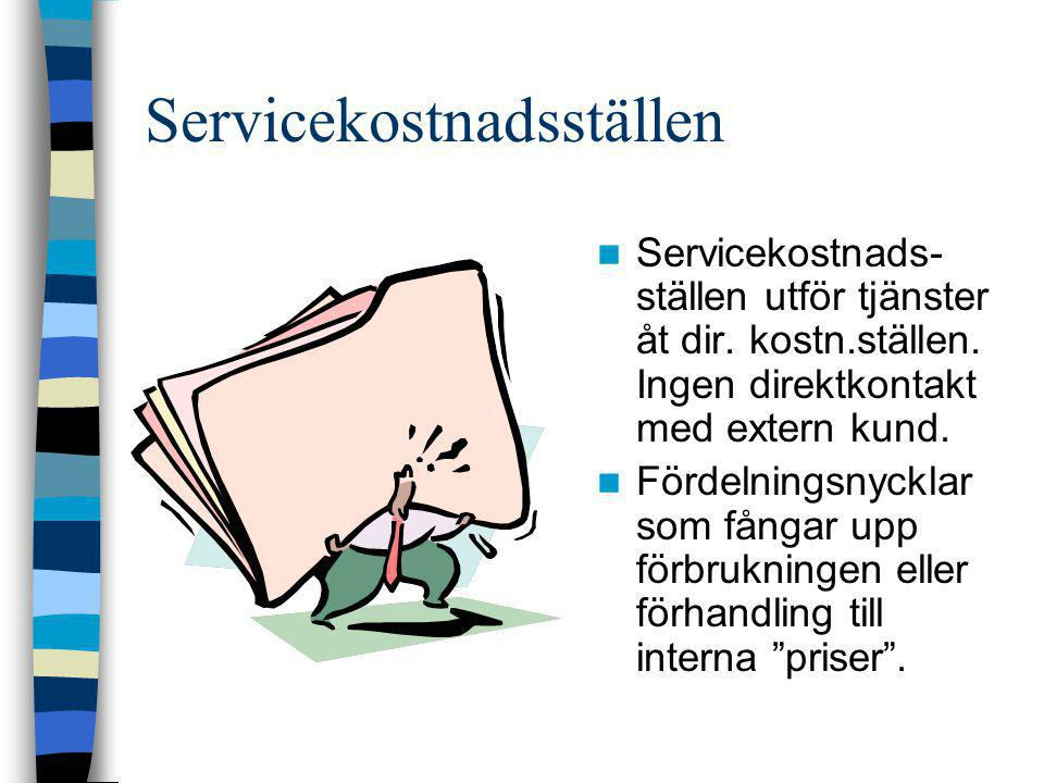 Servicekostnadsställen