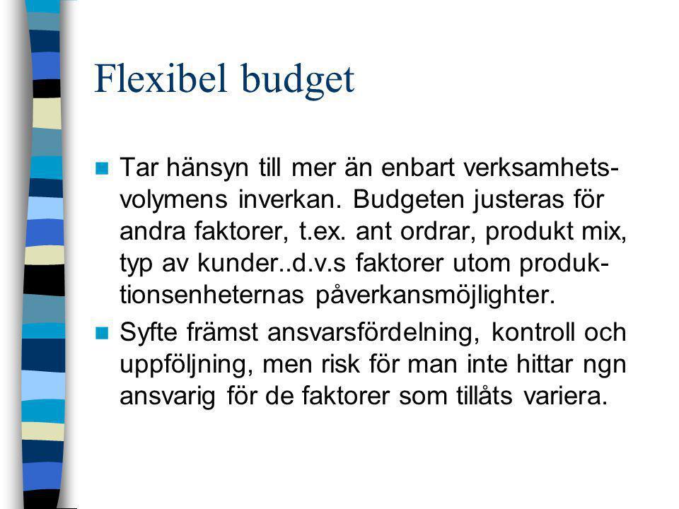 Flexibel budget