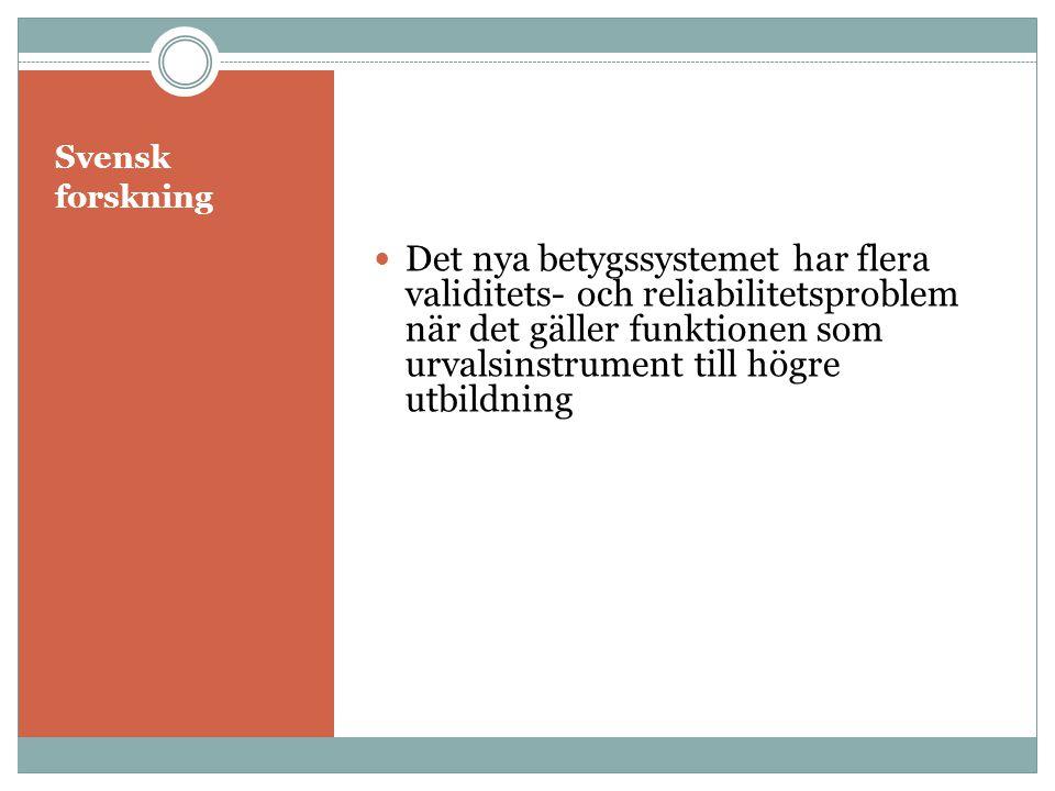 Svensk forskning