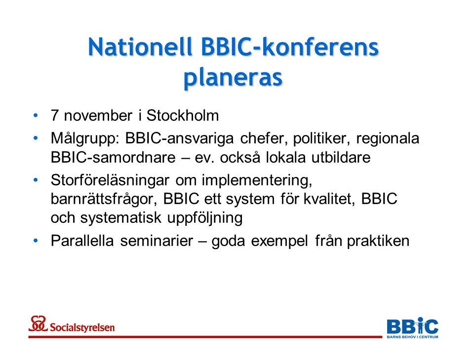Nationell BBIC-konferens planeras