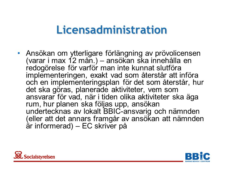 Licensadministration