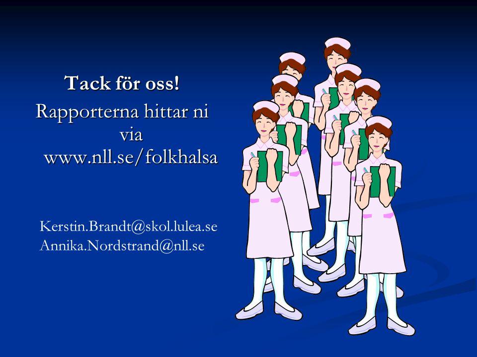 Rapporterna hittar ni via www.nll.se/folkhalsa