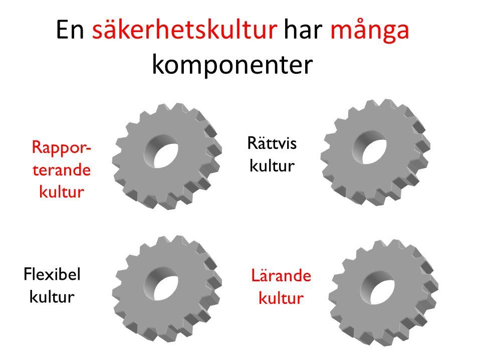 En säkerhetskultur har många komponenter