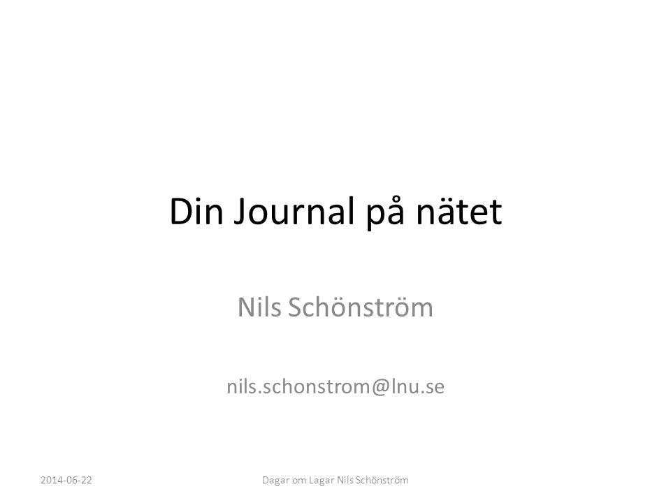 Nils Schönström nils.schonstrom@lnu.se