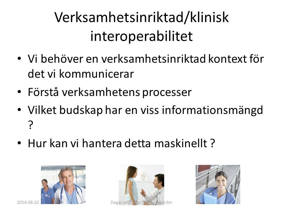 Verksamhetsinriktad/klinisk interoperabilitet