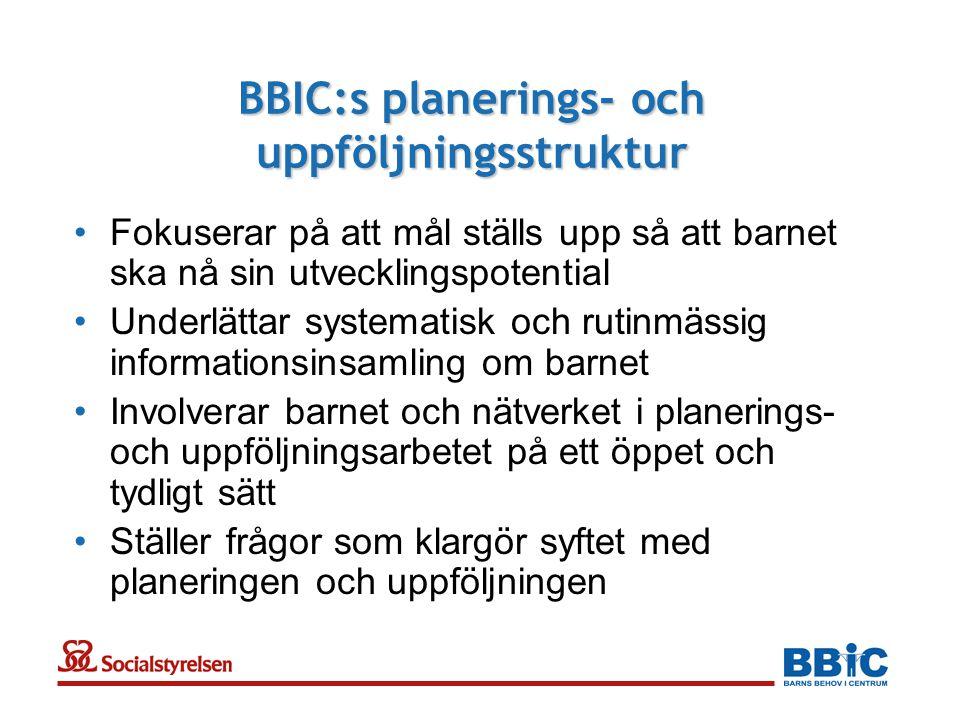 BBIC:s planerings- och uppföljningsstruktur