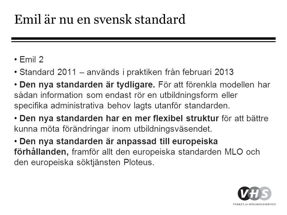 Emil är nu en svensk standard
