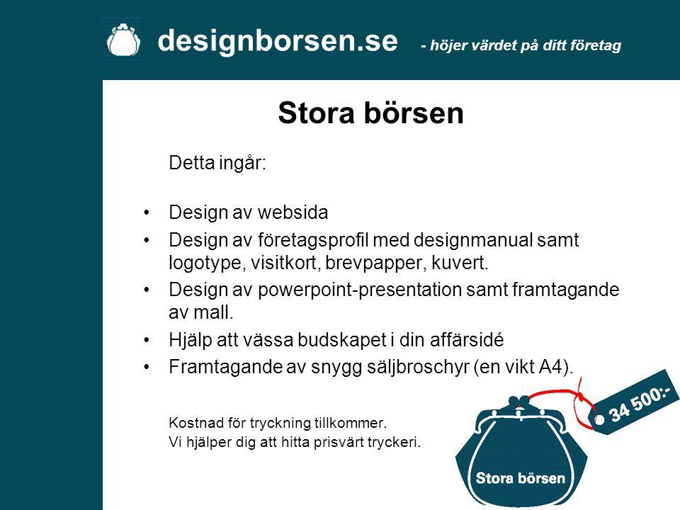 designborsen.se - höjer värdet på ditt företag