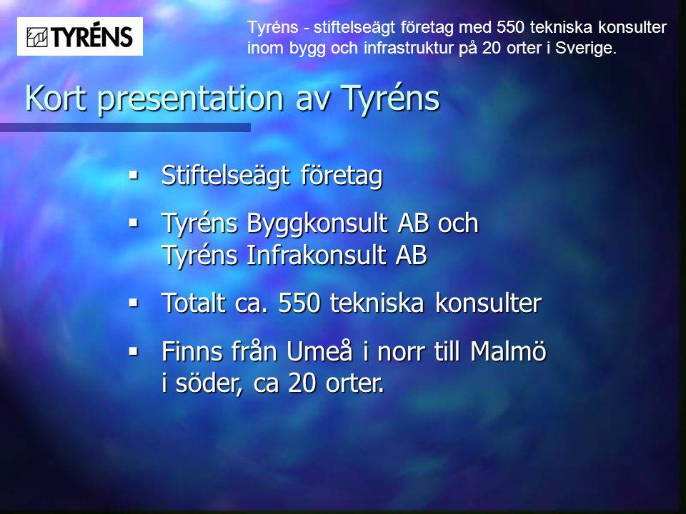 Kort presentation av Tyréns
