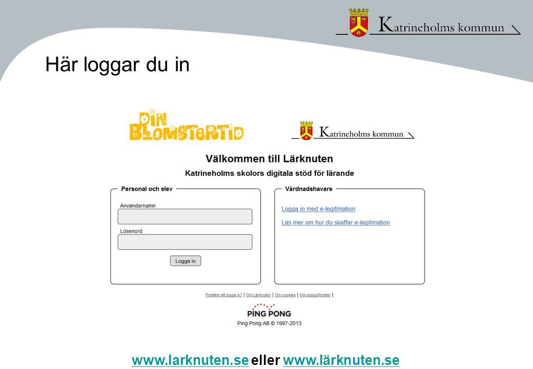 Här loggar du in www.larknuten.se eller www.lärknuten.se