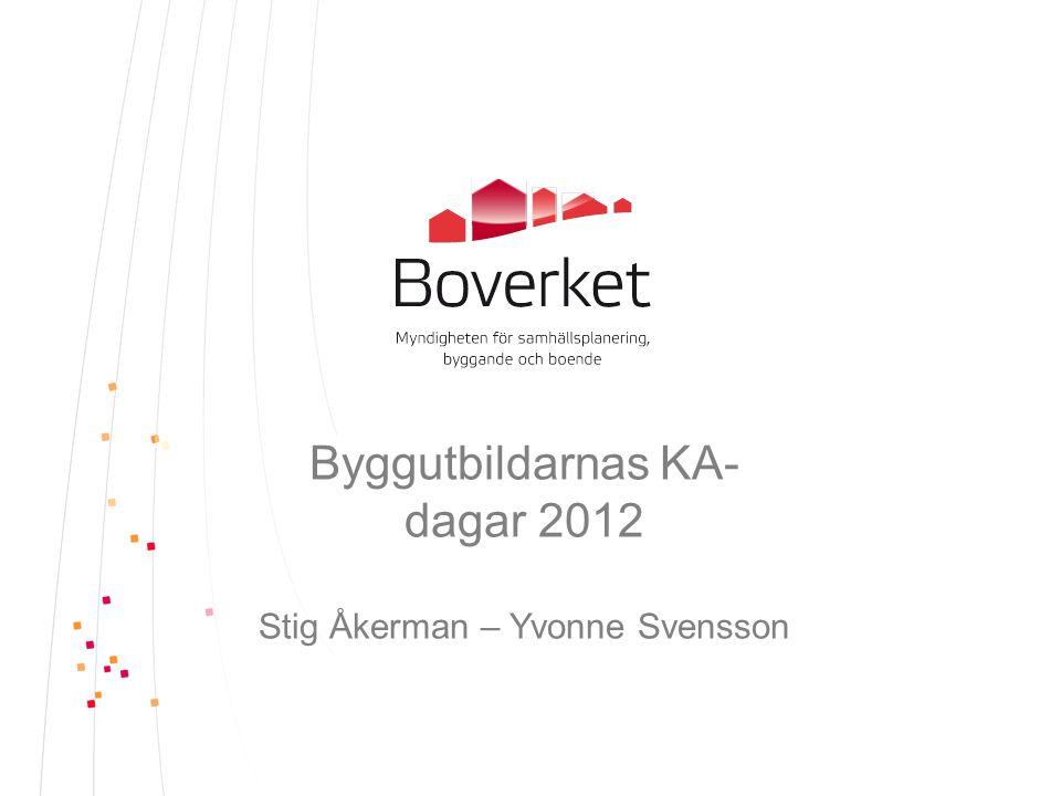 Byggutbildarnas KA-dagar 2012 Stig Åkerman – Yvonne Svensson