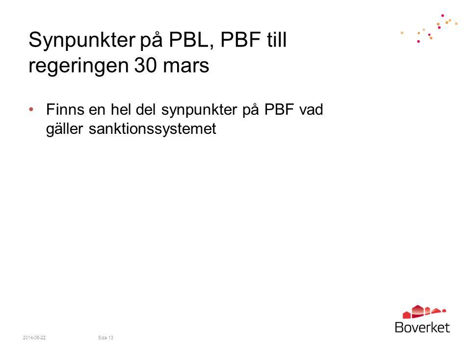 Synpunkter på PBL, PBF till regeringen 30 mars