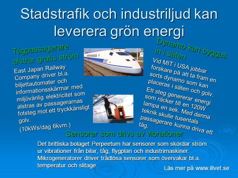 Stadstrafik och industriljud kan leverera grön energi