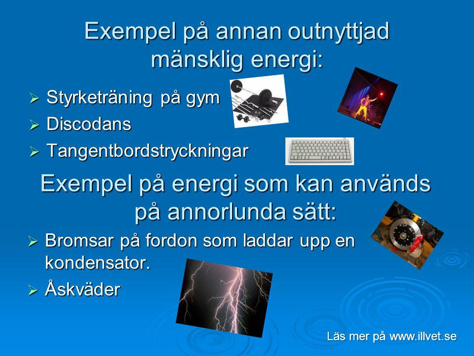 Exempel på annan outnyttjad mänsklig energi: