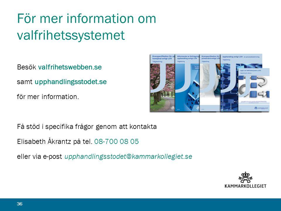 För mer information om valfrihetssystemet