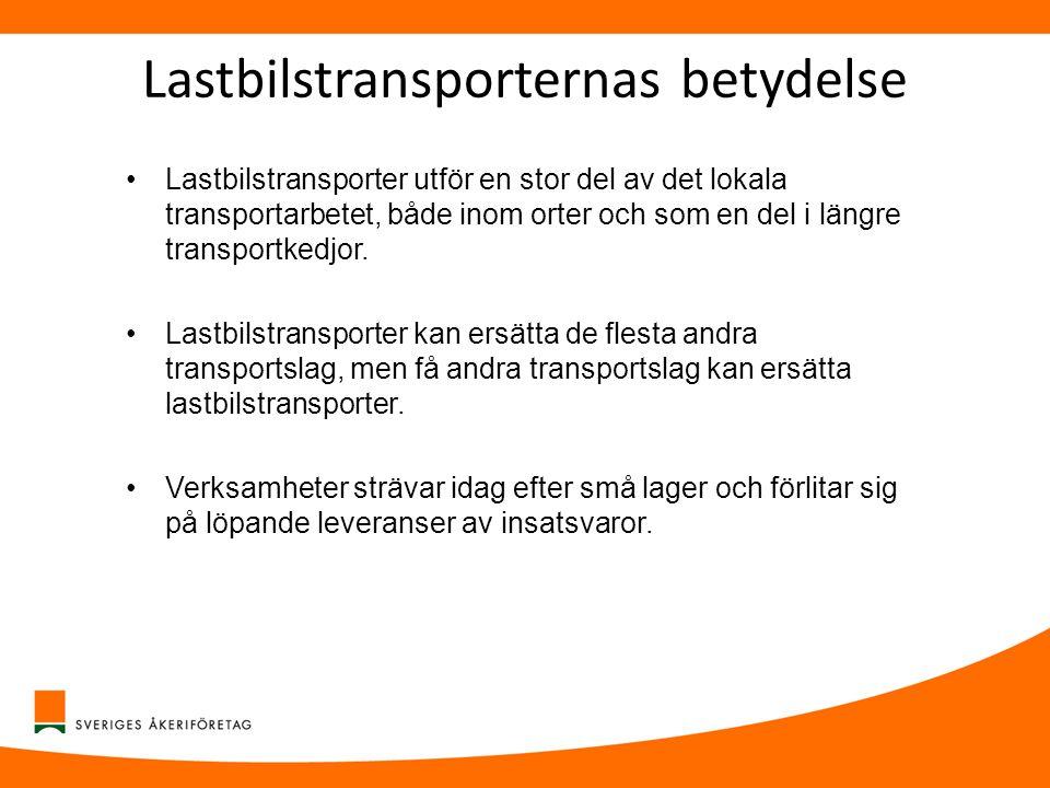 Lastbilstransporternas betydelse
