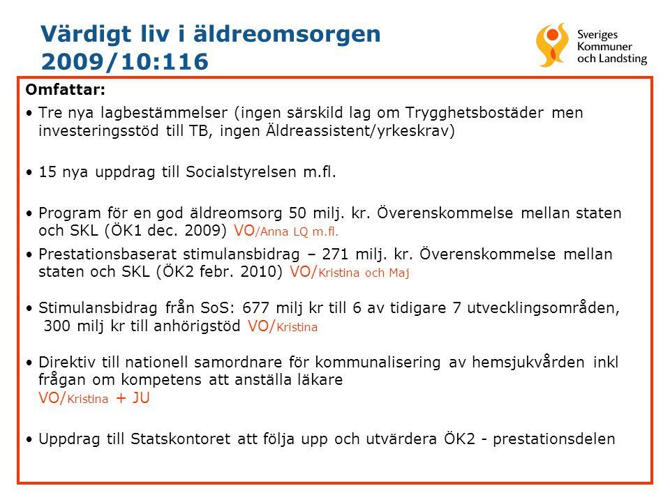 Värdigt liv i äldreomsorgen 2009/10:116