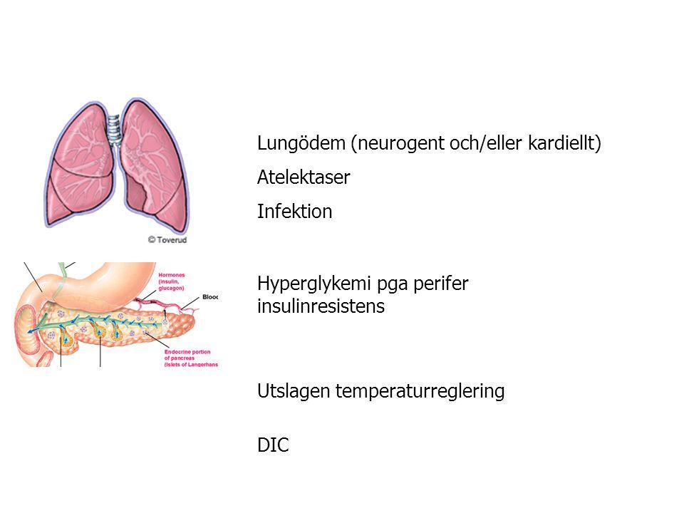 Lungödem (neurogent och/eller kardiellt)
