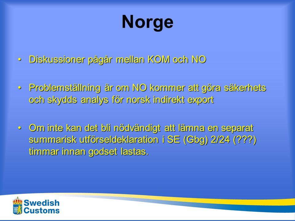 Norge Diskussioner pågår mellan KOM och NO