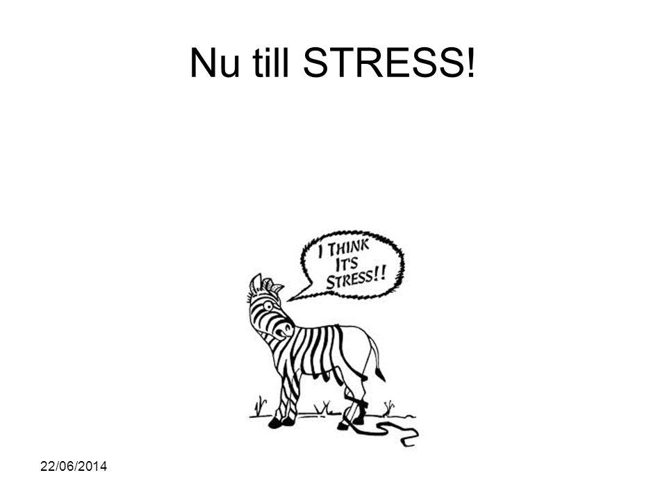 Nu till STRESS! 03/04/2017