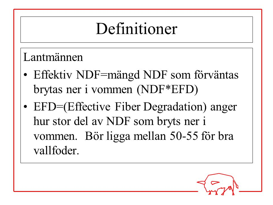 Definitioner Lantmännen