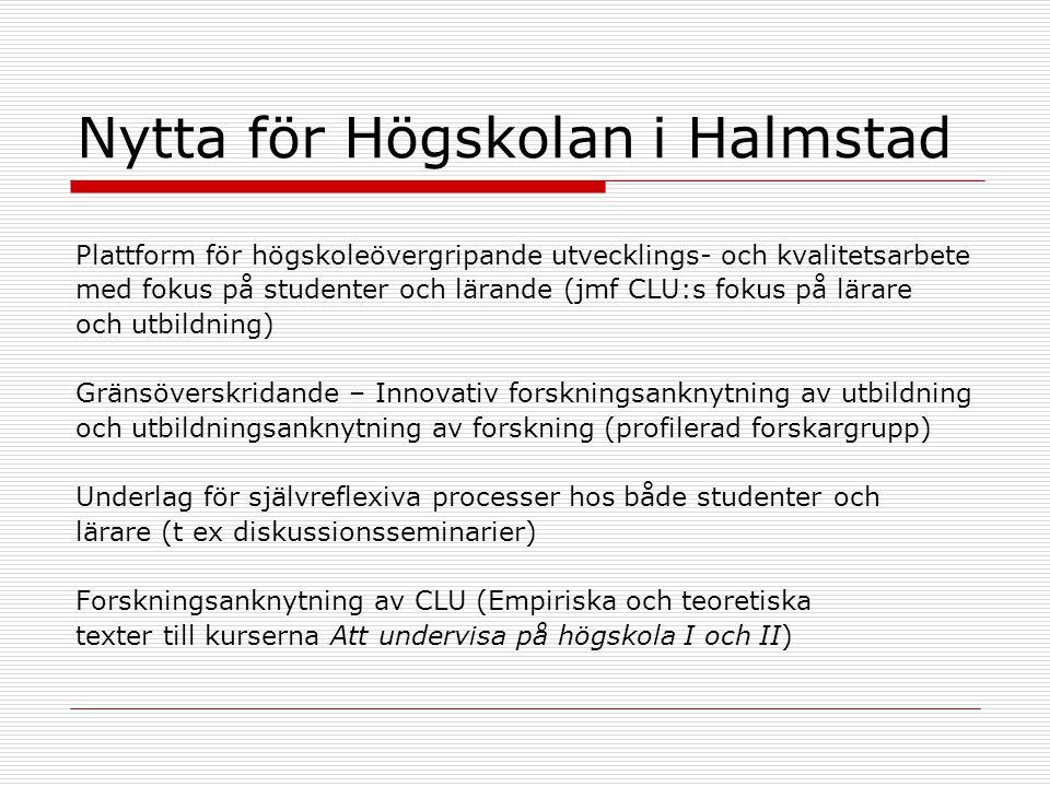 Nytta för Högskolan i Halmstad