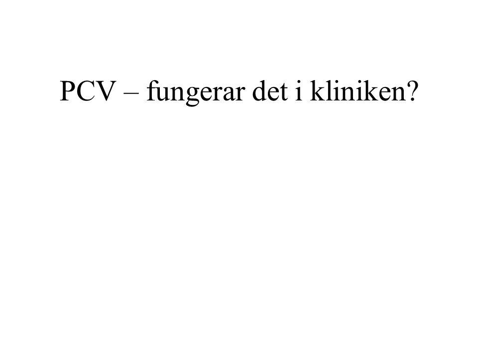 PCV – fungerar det i kliniken