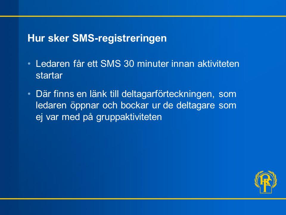 Hur sker SMS-registreringen