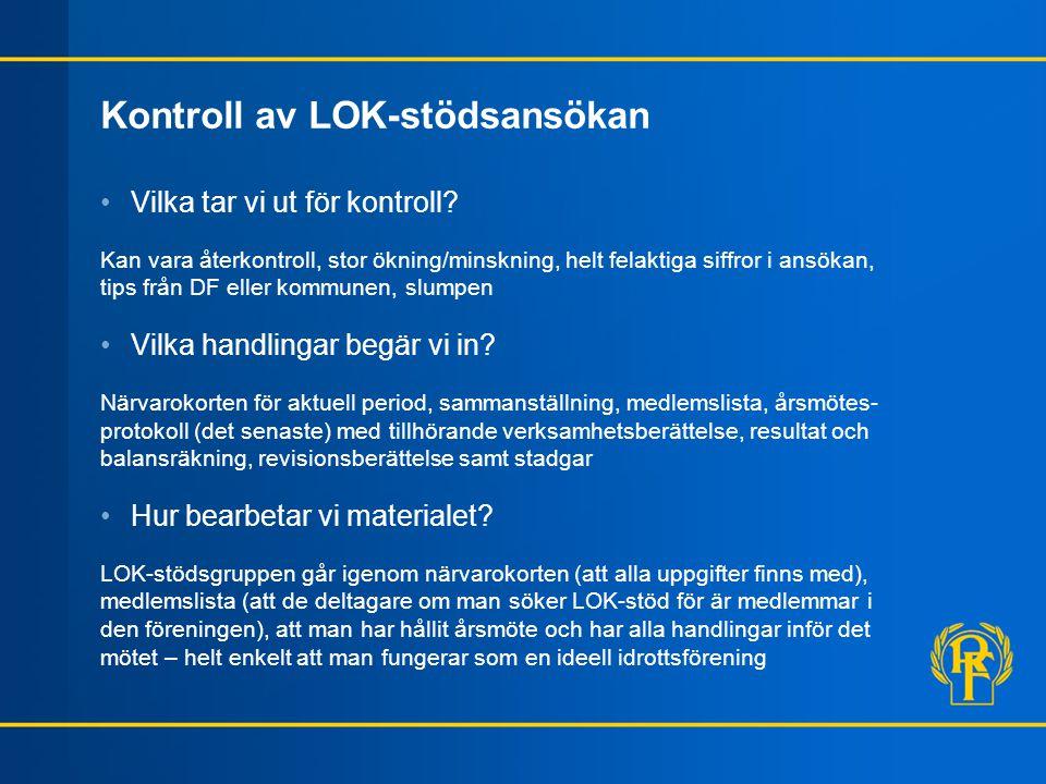 Kontroll av LOK-stödsansökan