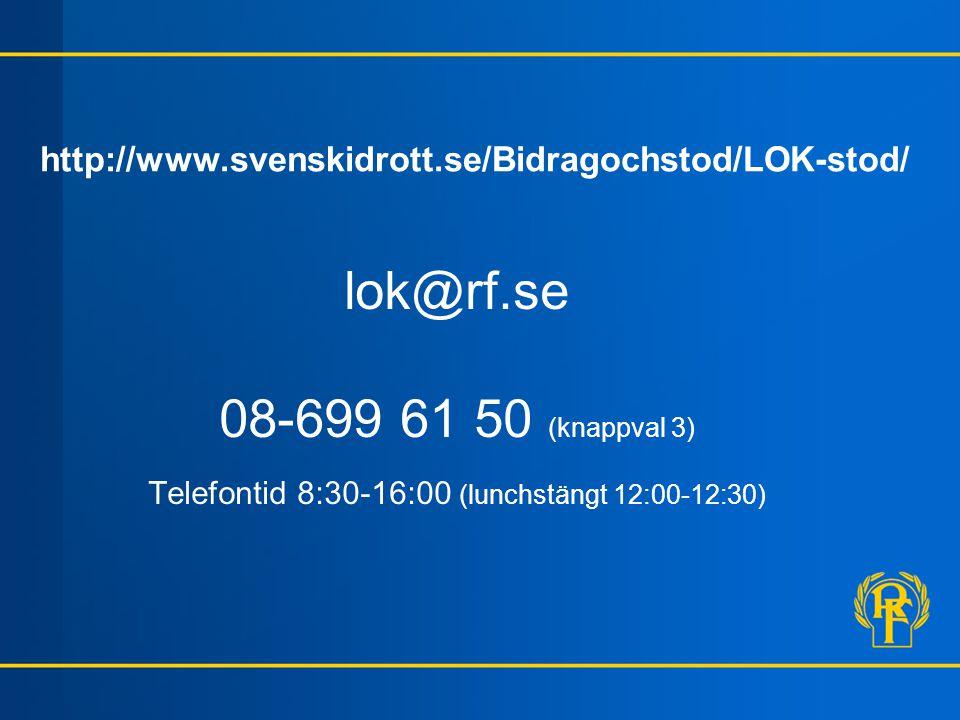 Telefontid 8:30-16:00 (lunchstängt 12:00-12:30)