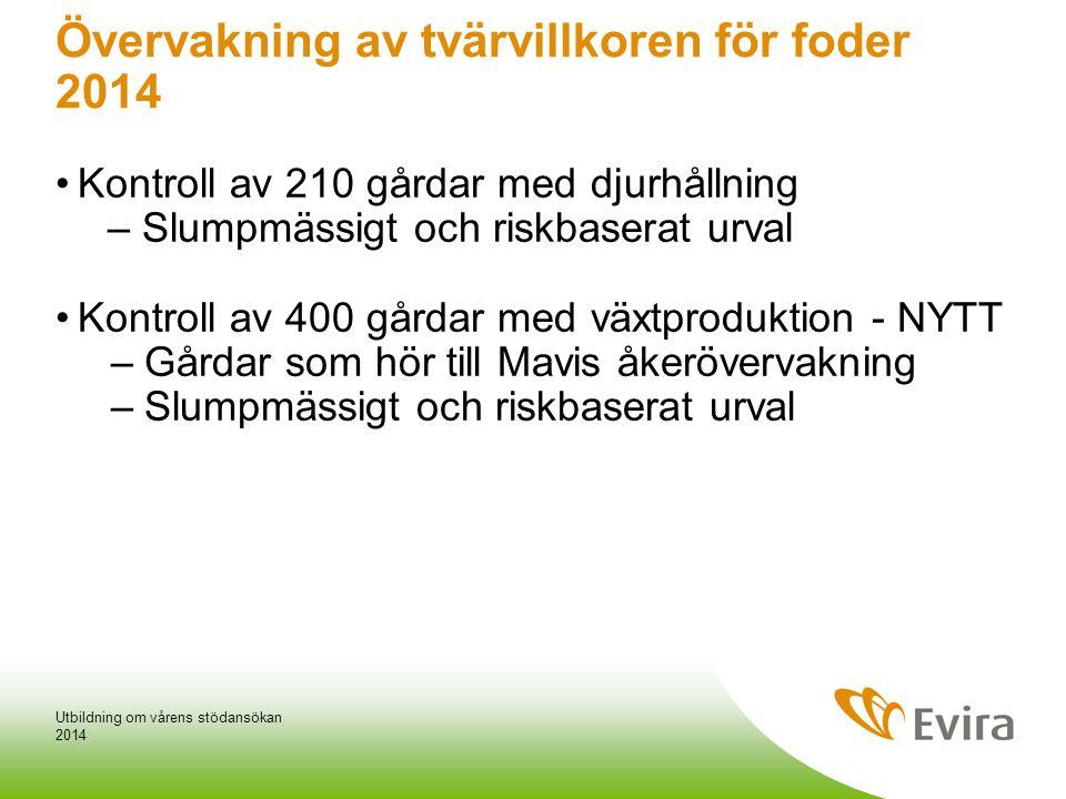 Övervakning av tvärvillkoren för foder 2014