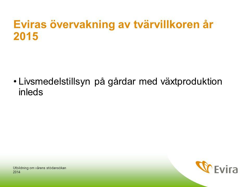 Eviras övervakning av tvärvillkoren år 2015