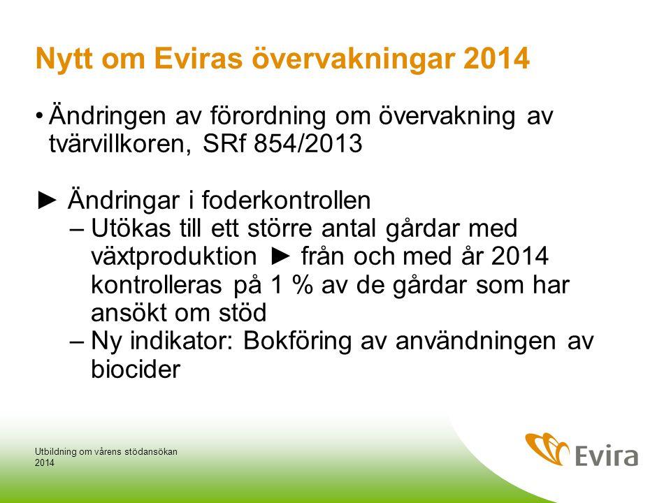 Nytt om Eviras övervakningar 2014